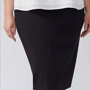 Lane Bryant Ponte Pencil Skirt 16W